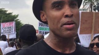 Protesters for Lagos ontop Libya mata