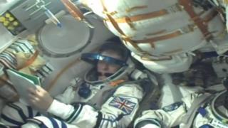 Tim Peake inside the Russian Soyuz rocket