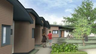 Artists impression of the bungalow development