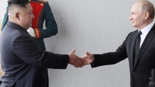 Vladimir Putin ile Kuzey Kore lideri Kim Jong-un