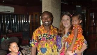 Katy Kouasseu and family