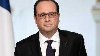 French President Francois Hollande delivers a speech on constitutional reform and the fight against terrorism at the end of the weekly cabinet meeting at the Elysee Palace in Paris, France, on 30 March 2016