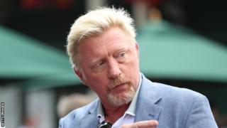 Boris Becker at Wimbledon 2019