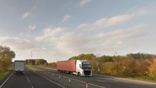 A631 dual-carriageway near Beckingham