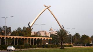 (أرشيف) المنطقة الخضراء في بغداد توجد بها مباني حكومية سفارات أجنبية