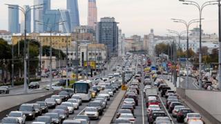 Pemandangan kemacetan