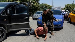 Задержание подозреваемого в Анкаре