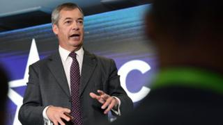 Nigel Farage attends the Conservative Political Action Conference (CPAC) in Sydney, Australia