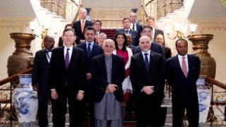 غنی و اعضای شورای امنیت