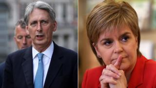Philip Hammond and Nicola Sturgeon