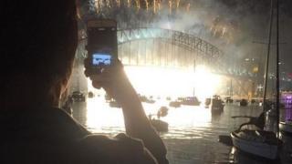 Firework display in Sydney, Australia