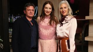 Tom and Ruth Chapman with designer Roksanda Ilincic