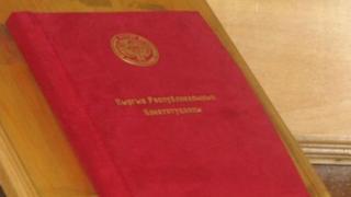 Кыргызстандын жаңы Конституциясы 2010-жылы референдумда кабыл алынган.