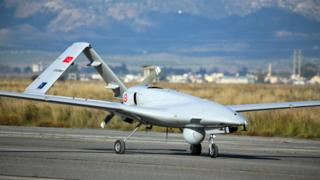 Turkish Bayraktar TB2 armed drone at base in northern Cyprus, 16 Dec 19