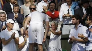 Andy Murray hugging his Mum