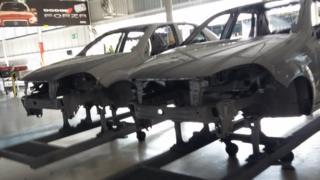 Una fábrica de autos en Venezuela