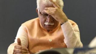मनोहर लाल खट्टर, हरियाणा, बीजेपी, गुरमीत राम रहीम सिंह, डेरा सच्चा सौदा
