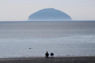 He was looking out from Girvan in Ayrshire to Ailsa Craig