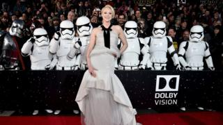 "Actress Gwendoline Christie attends the World Premiere of Â""Star Wars: The Force AwakensÂ"