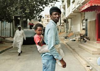 Mouhammed and Zakaria in Liberte 4, a popular neighbourhood in Dakar, Senegal