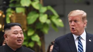 الرئيس الأمريكي والزعيم الكوري