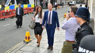 England cricketer Ben Stokes arrives at Bristol Crown Court