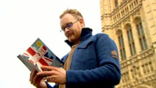 Justen Hyde with Brexit book