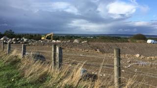 Bontnewydd bypass under construction