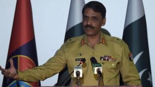 पाकिस्तानी सेना के प्रवक्ता मेजर जनरल आसिफ़ गफूर
