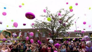 Balloons let off for Saffie