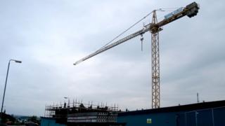 Two youths were rescued from the cab of the crane in Coleraine