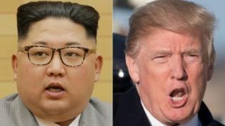 Şimali Koreya lideri Kim Jong-un, ABŞ prezidenti Donald Trump
