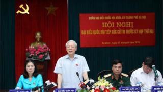 Tổng bí thư Đảng CSVN Nguyễn Phú Trọng tại cuộc tiếp xúc cử tri