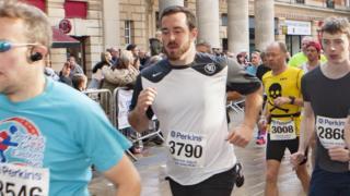 Paul McCann taking part in the half marathon
