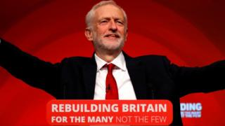 Jeremy Corbyn delivers his closing address at the Labour Party Conference