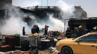 взрыв на рынке в Багдаде