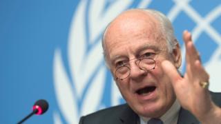 デミストゥラ国連特使は、シリア停戦は「虫の息」だと語った