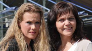 Ellinor Grimmark (L) and Linda Steen