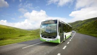 A bus on the TrawsCymru route
