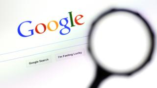google search with magnifying glass