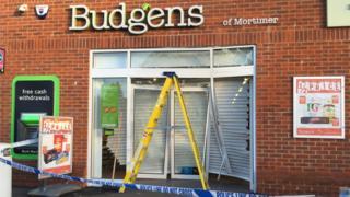 Budgens after the ram raid