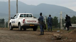 Des militaires positionnés à Sebeta, Addis Abeba, en octobre 2016