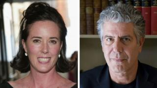 Composite image of Kate Spade and Anthony Bourdain