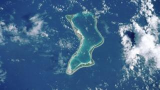 Diego Garcia seen from space