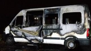 Minibus fire