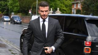 David Beckham arrives at court