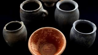 Bainesse pottery from human burial