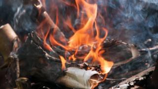 Waste fire