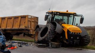Accident scene on A141 Chatteris