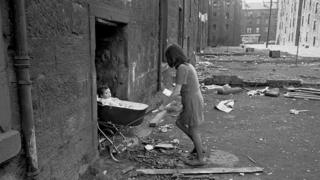 Young mother in the Gorbals, Glasgow